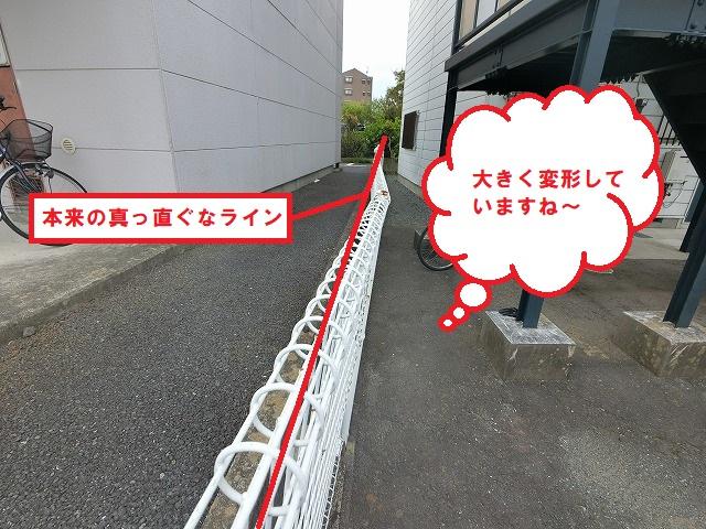 水戸市の強風と劣化で倒壊寸前のフェンスを強風耐性の商品に交換