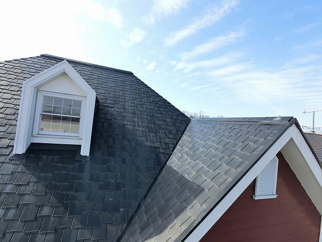 9寸勾配の屋根にドーマー