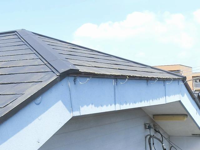 現調時スレート屋根