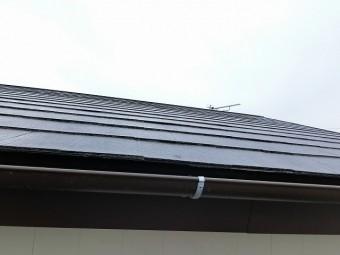雨樋も交換し遮熱塗料で塗装したひたちなか市の現場屋根