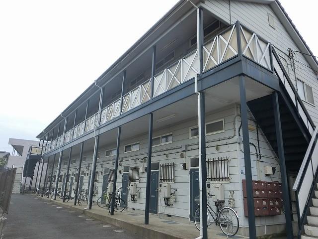 水戸市賃貸アパートの現場調査で全景画像
