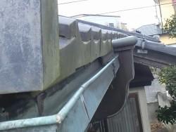 筑西市の現場に設置されていた銅製雨樋