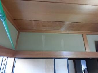 水戸市で雨漏りした室内天井