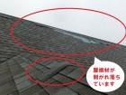 台風で飛散したアスファルトシングル材