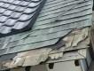 結城市の現場での施工前の銅板屋根の様子