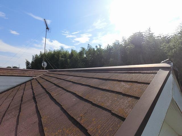 スレートの屋根を東側から撮影