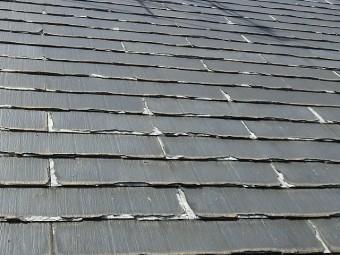 屋根の欠けが端からはじまっているのを確認