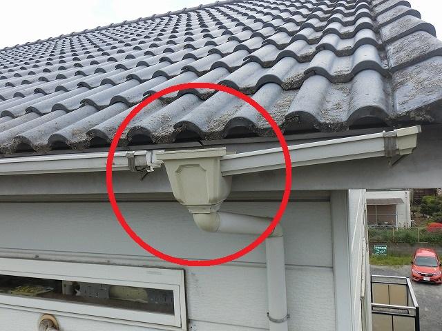 水戸市アパートで高所棒撮影で発見された破損雨樋