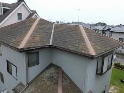 施工前の結城市の屋根を北側から撮影