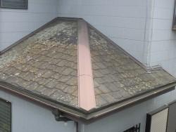 施工前の結城市の現場の下屋根