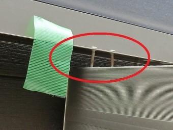 カーポートの前枠と梁の連結部が破損