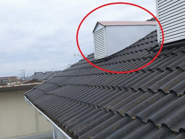 屋根のドーマー部