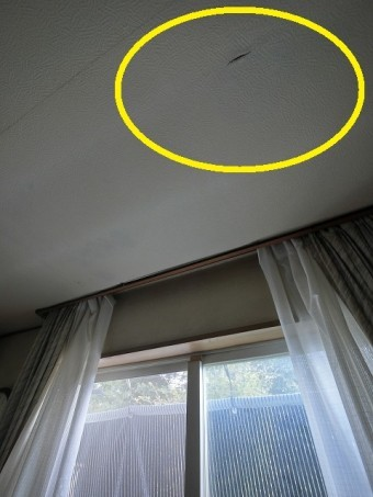 リビングダイニングの天井への雨漏り