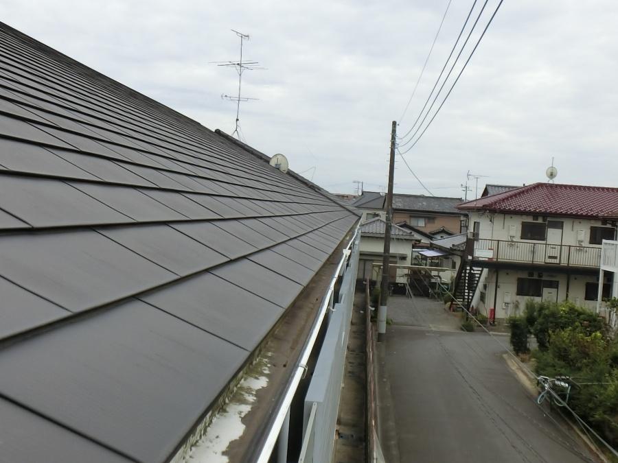 8年前に葺き替えたガルバリウム金属屋根