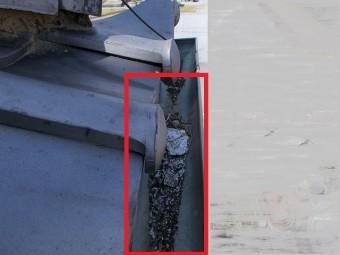 銅樋の泥詰まり