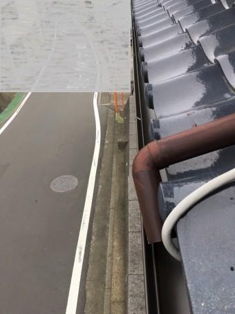 北側の雨樋交換