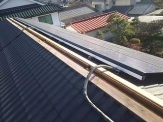 新しい防腐処理した貫板を施工