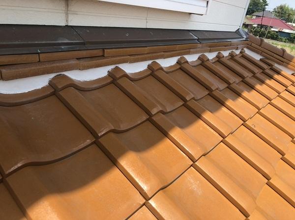 屋根瓦の漆喰補修