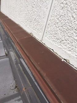 施工する前の葺き止めと雨押え板金