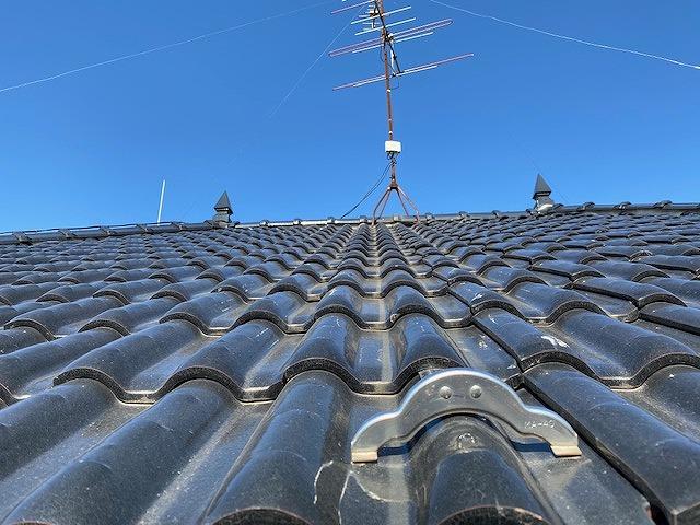 軒先から撮影した屋根風景