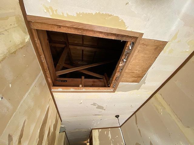 クロスを剥がし終わった壁と天井
