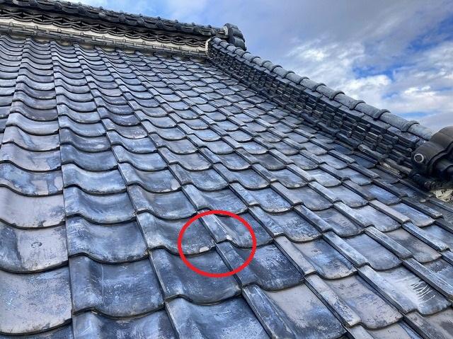 屋根葺き替えのご検討は瓦の凍て割れから