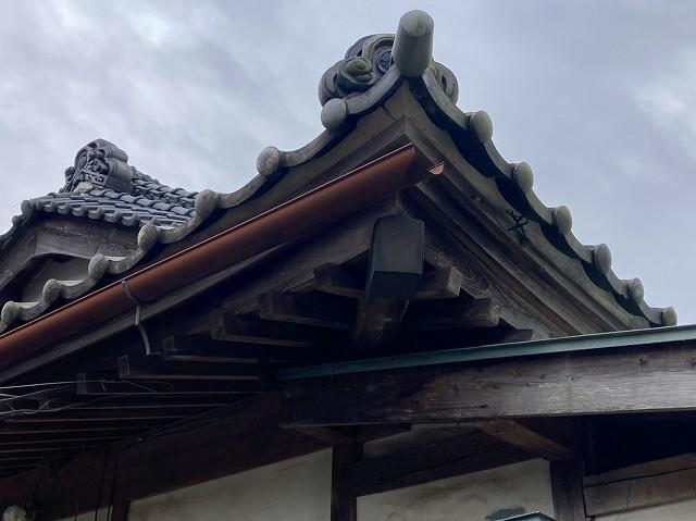 和風建築特有な屋根の反り