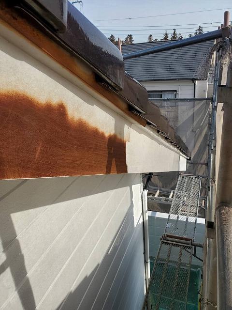 破風板シーラー塗装