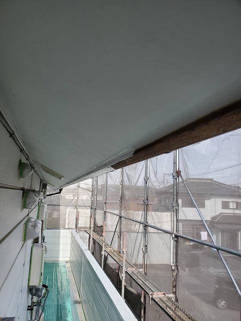 破風板軒天シーラー塗装