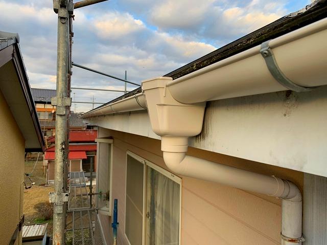 ひたちなか市で完了した雨樋交換現場