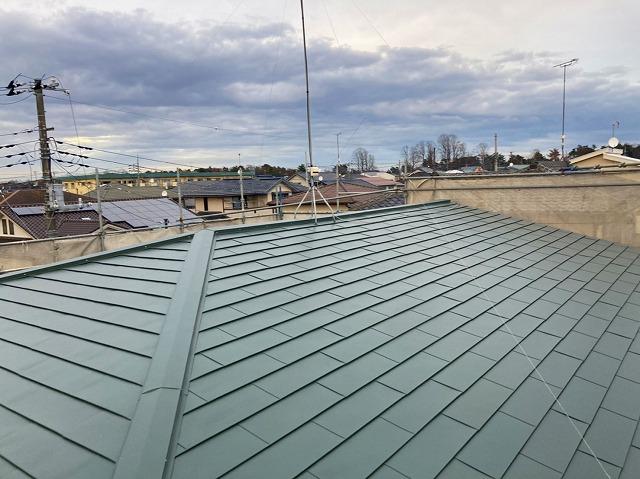 屋根工事が終わったひたちなか市の屋根