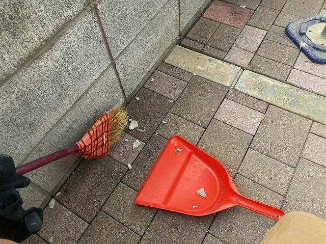 工事後の清掃は抜かりなく