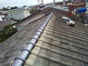 セメント瓦のガイドライン工法