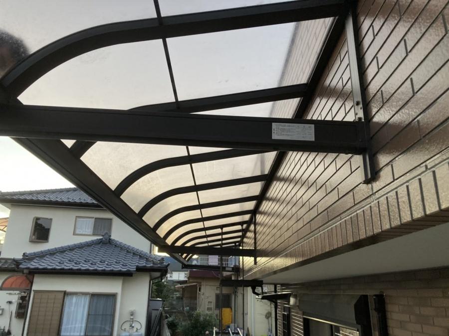 テラス屋根の復旧も完了です