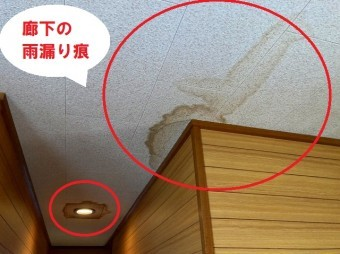 廊下の雨漏りがあるパミール