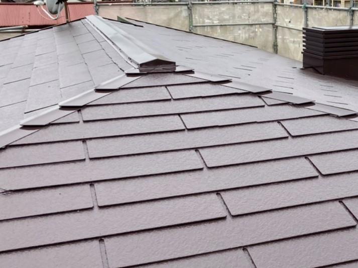遮熱塗料で施した水戸市の屋根