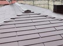 水戸市の三階建て屋根塗装が完了