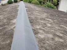 ガルバリウム製の降り棟板金で交換を行った桜川市の現場