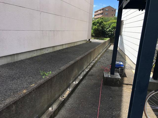 水戸市のフェンスを解体が完了しました