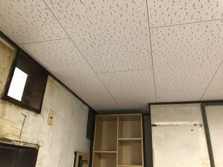 新しく施工した石膏ボードの天井