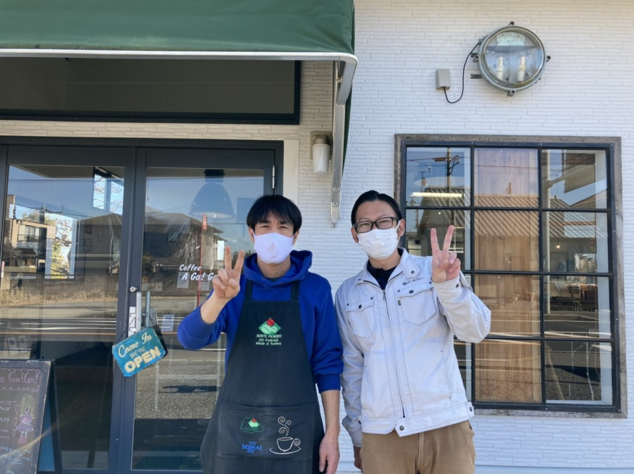 水戸市で外壁張替え工事を行なったお客様よりお喜びの声を頂きました(コロナ禍の為マスク着用)