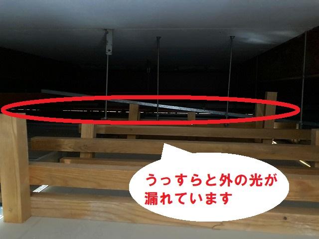 テナントビル雨漏り天井裏調査