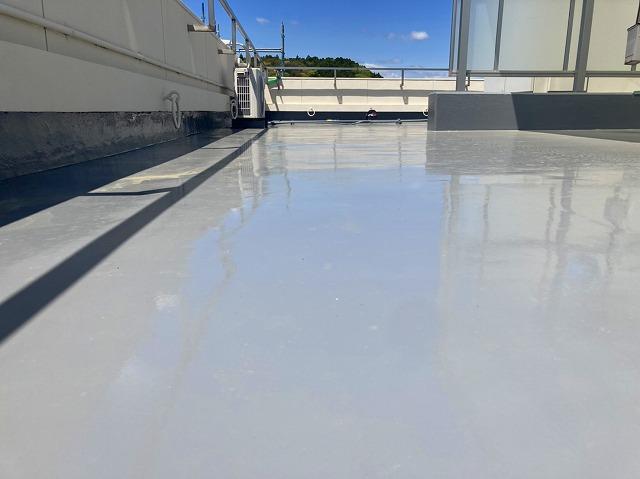 屋上防水工事の完了となります