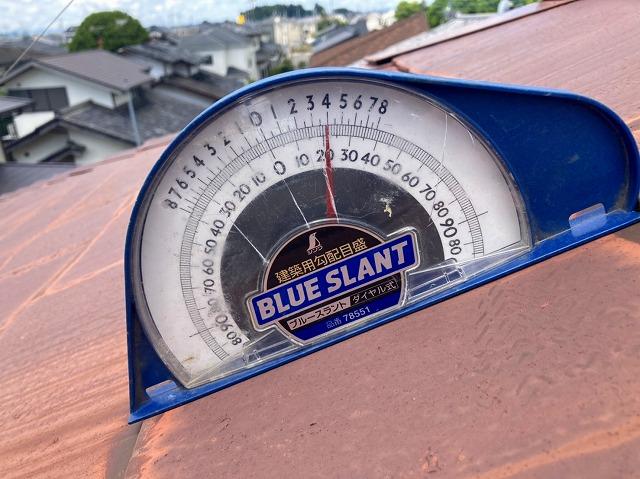 4寸勾配のスレート屋根