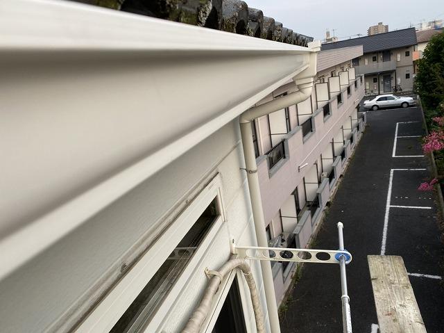 水戸市のアパートで交換が完了したパナソニック軒樋