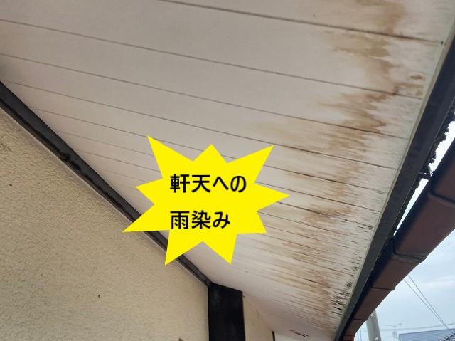 軒歌天井に出来た雨染み