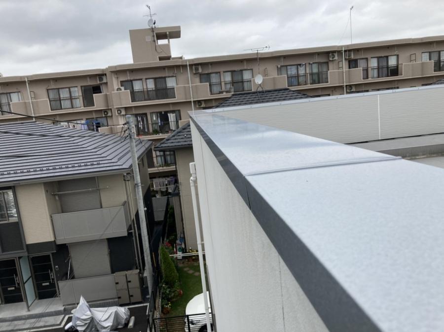 屋根工事を行った水戸市のパラペット屋根