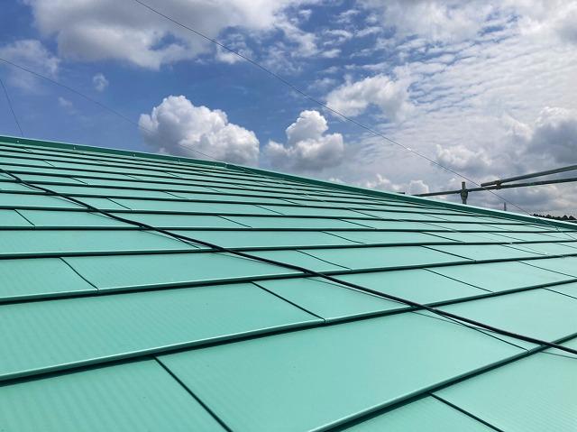 笠間市の完工後、屋根の写真