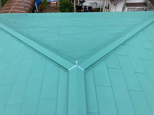 屋根リフォーム屋根カバー工事完了画像
