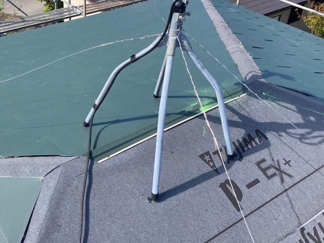 リフォーム中の那珂市の屋根